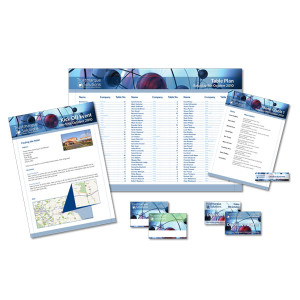 Corporate Events invitations tableplans name badges and placecards
