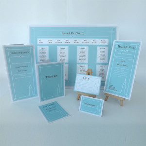 Empire Blue Wedding Stationery