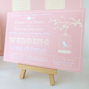 Vintage Birdcage Invitation