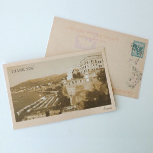 Vintage Heart Passport Thank You Card